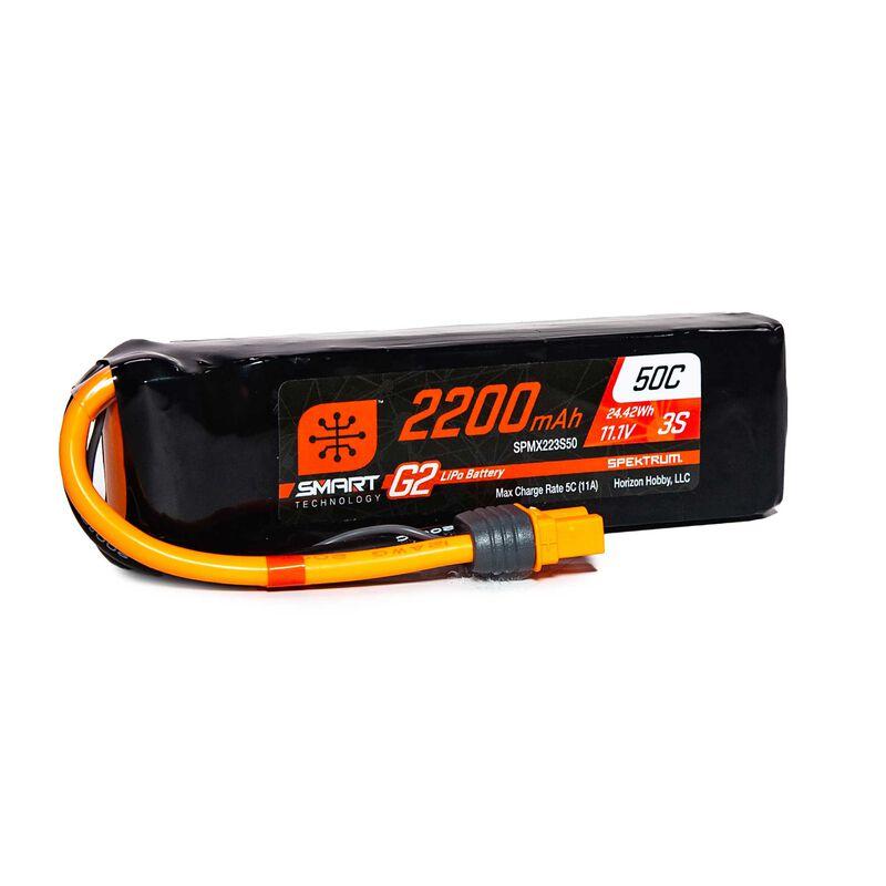 11.1V 2200mAh 3S 50C Smart G2 LiPo Battery: IC3