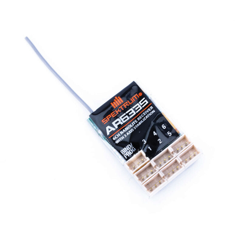 AR6335 DSMX 6-Channel AS3X Nanolite Receiver