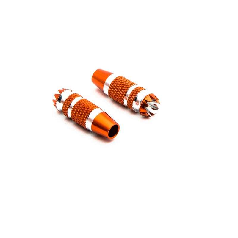 Gimbal Stick Ends 24mm Orange with Silver (2): DX6G2, DX7G2