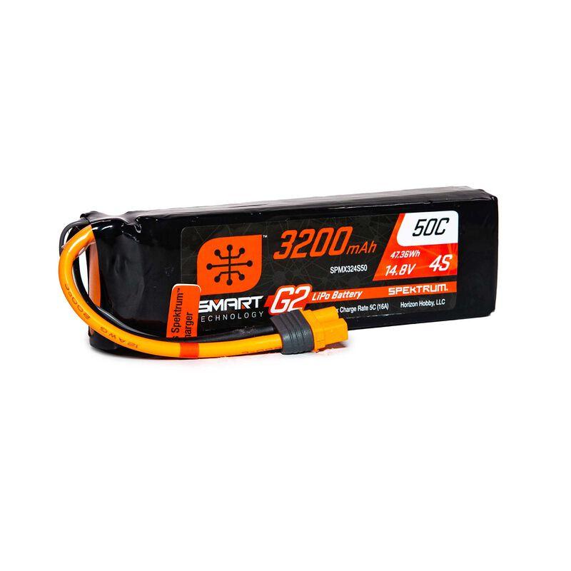 14.8V 3200mAh 4S 50C Smart G2 LiPo Battery: IC3