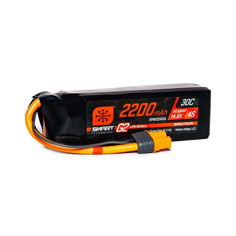 14.8V 2200mAh 4S 30C Smart G2 LiPo Battery: IC3