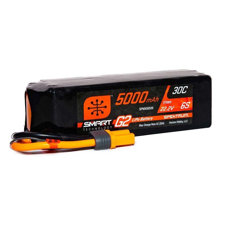 22.2V 5000mAh 6S 30C Smart G2 LiPo Battery: IC5
