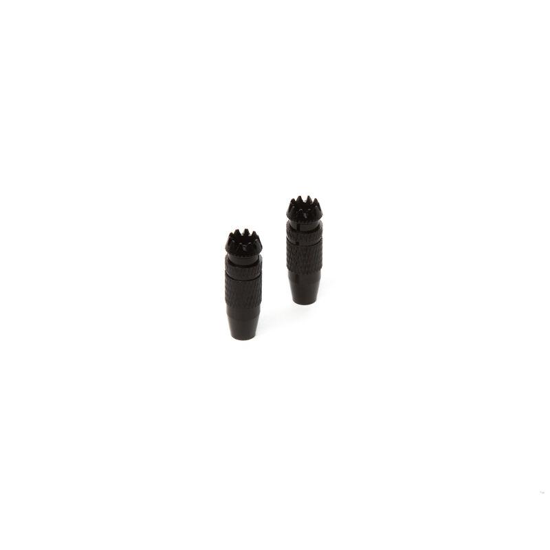 Gimbal Stick Ends 24mm Black (2): DX9 BE