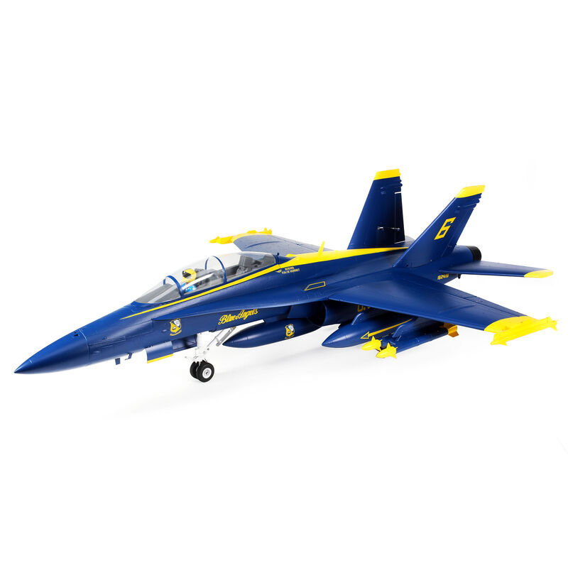 F-18 Blue Angels 80mm EDF Jet BNF Basic with AS3X and SAFE Select, 980mm