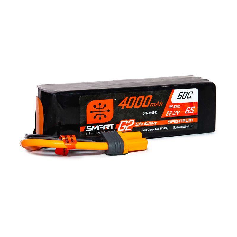 22.2V 4000mAh 6S 50C Smart G2 LiPo Battery: IC5
