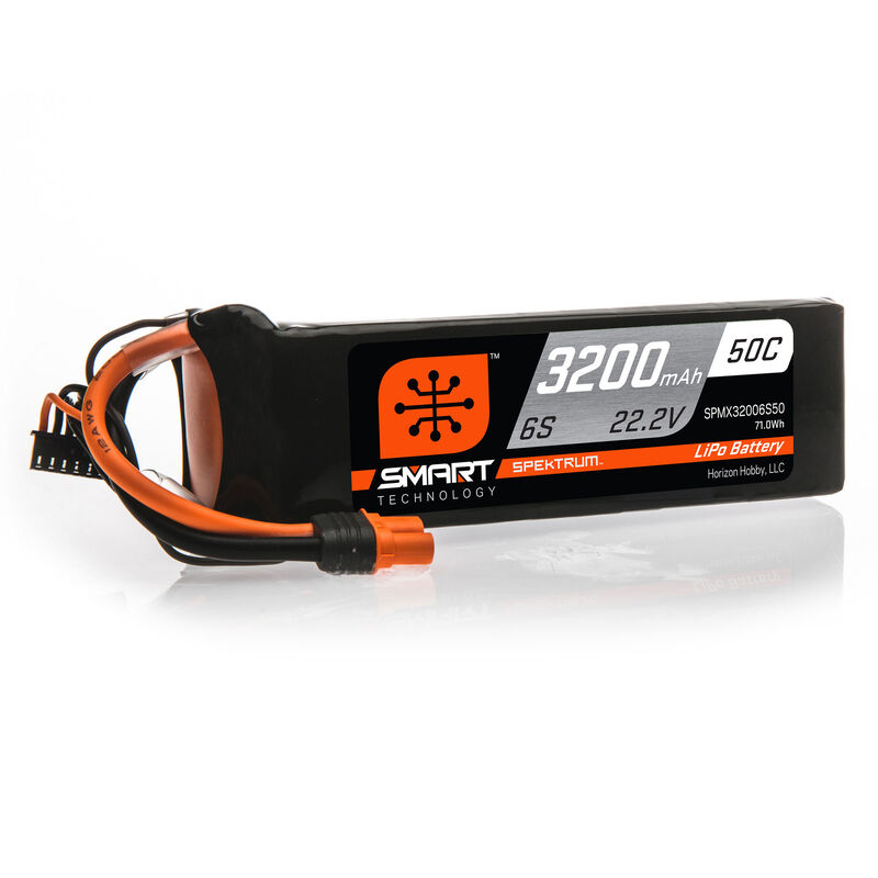 22.2V 3200mAh 6S 50C Smart LiPo Battery: IC5